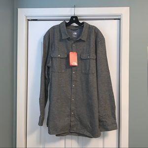 The North Face button down shirt XXL 100% cotton